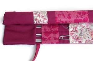 Pink knitting needle case