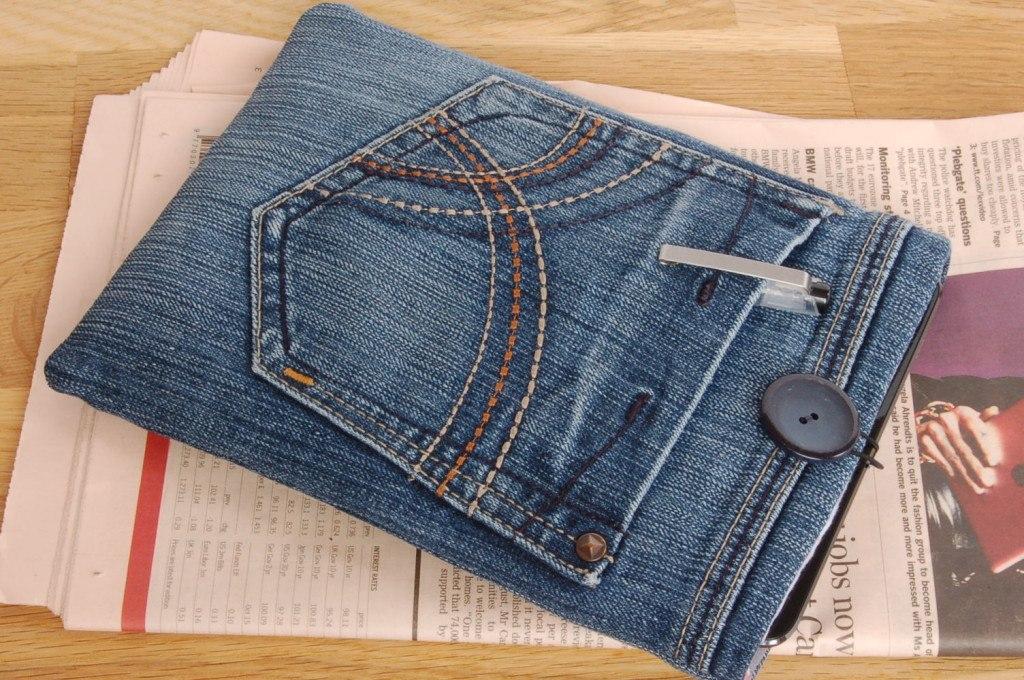 Upcycled Denim Tablet Case