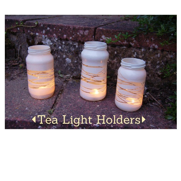Jam Jar tea light holders