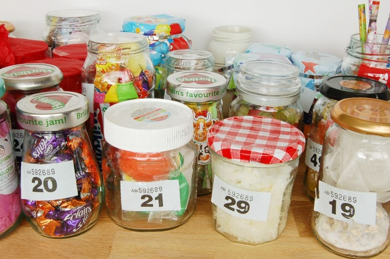 Kids Craft Decorated Jam Jars