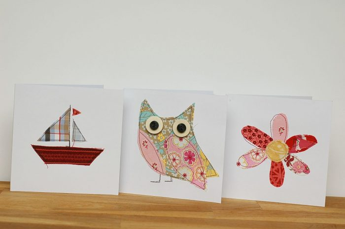 Fabric Applique Cards – DIY
