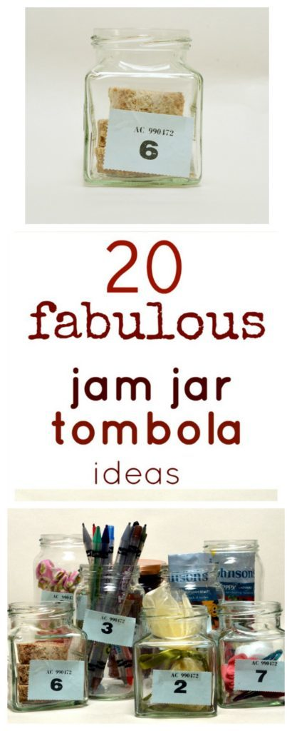 Fun ideas for filling jam jars for fundraising tombolas