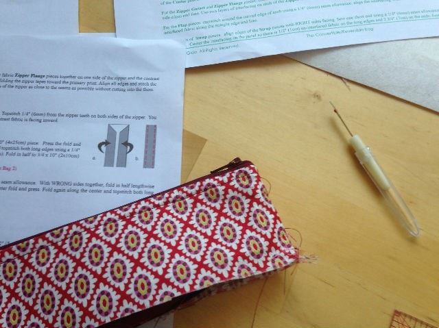 Conervertible-reversible bag instructions
