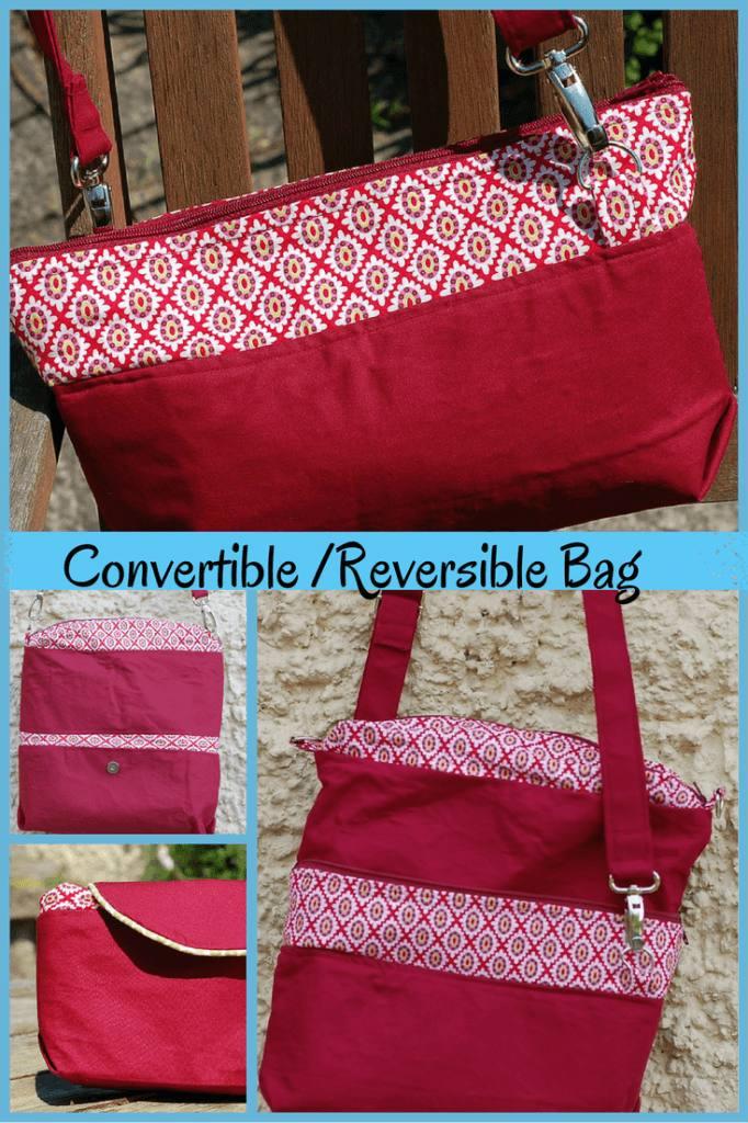 Convertible-reversible bag hop