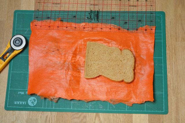 Cut sandwich bag