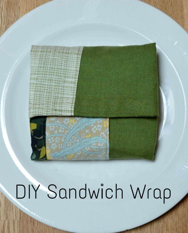 Upcycled Bag Sandwich Case, DIY Sandwich Wrap