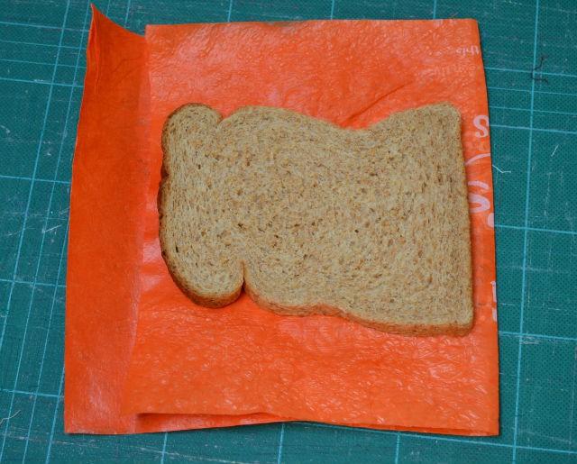Recycle plastic sandwich wrapper