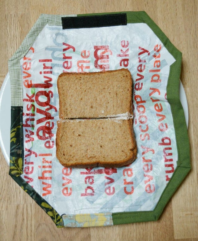Upcycled sandwich wrapper
