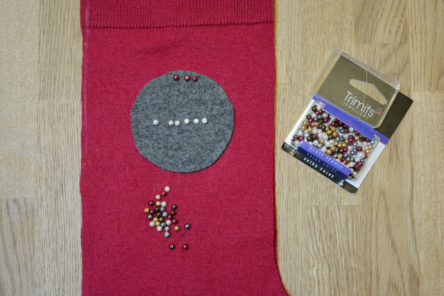 Felt decorated stocking