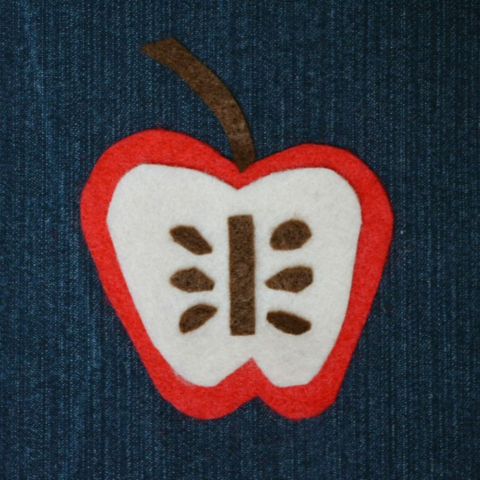 Apple felt applique