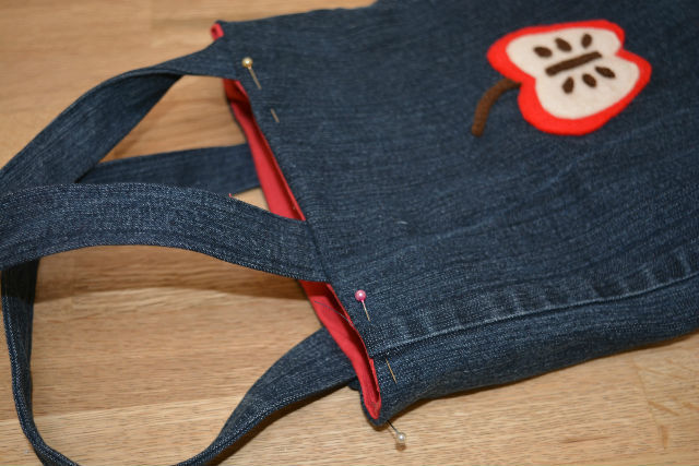 Denim toddler bag