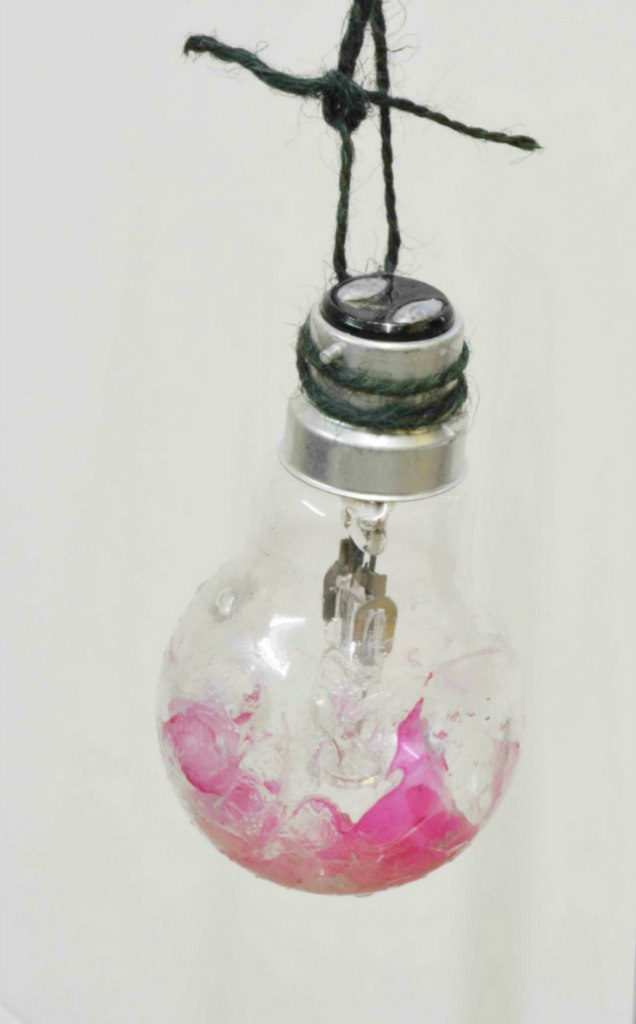 Nail Varnish Upcycled lightbulbs