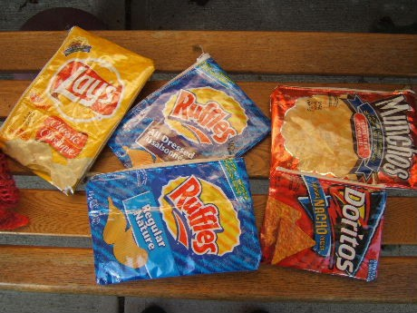 recycle potato chip bags into pencil cases