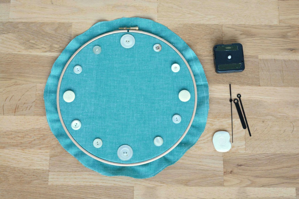 Button clock, vicky myers creations