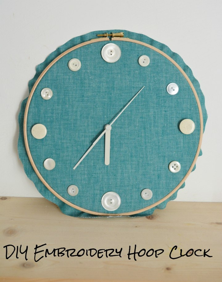 DIY Embroidery Hoop Clock