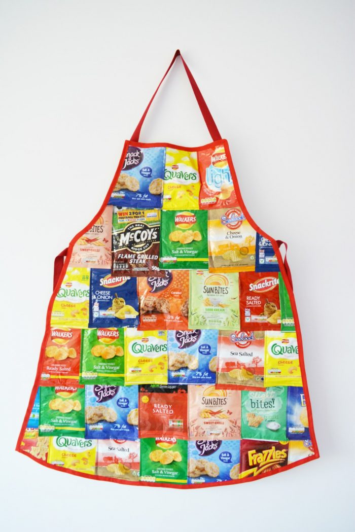 Recycled Crisp Packet Apron DIY