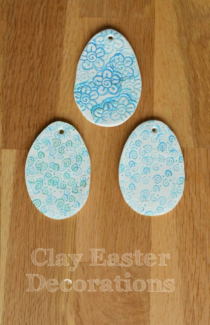 Easter Eggs Decoration, Clay Stamped Easter Egg Tree