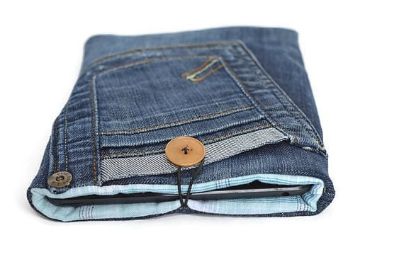 Denim Mini IPAD Case  Free tutorial