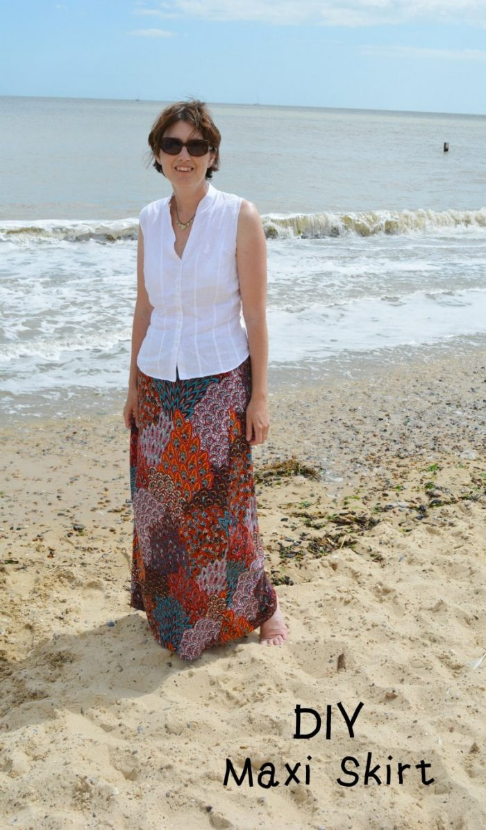 Super Quick and Easy DIY Maxi Skirt