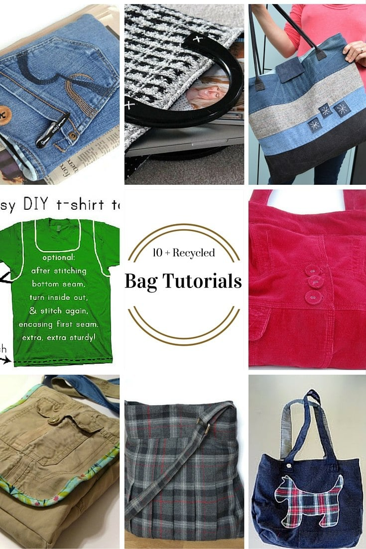 10+ Free Patterns for Recycled Bags