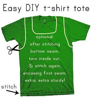 diy tshirt tote