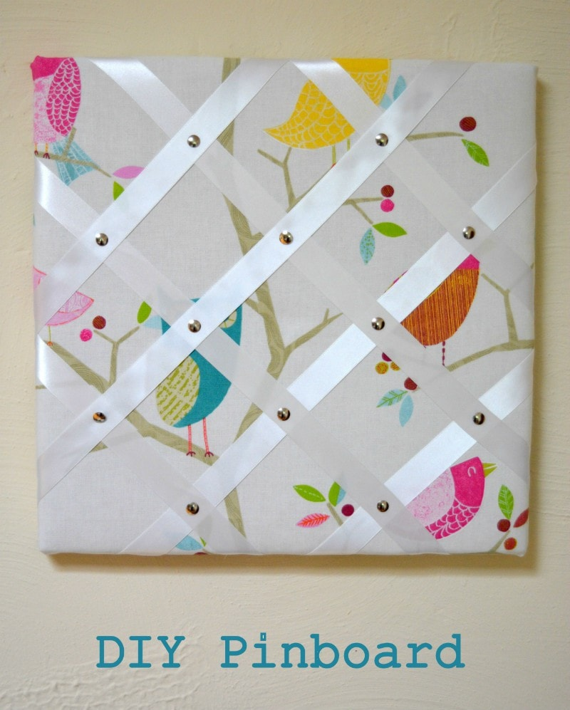 Make a DIY fabric pinboard #MyHomeMade #Giveaway