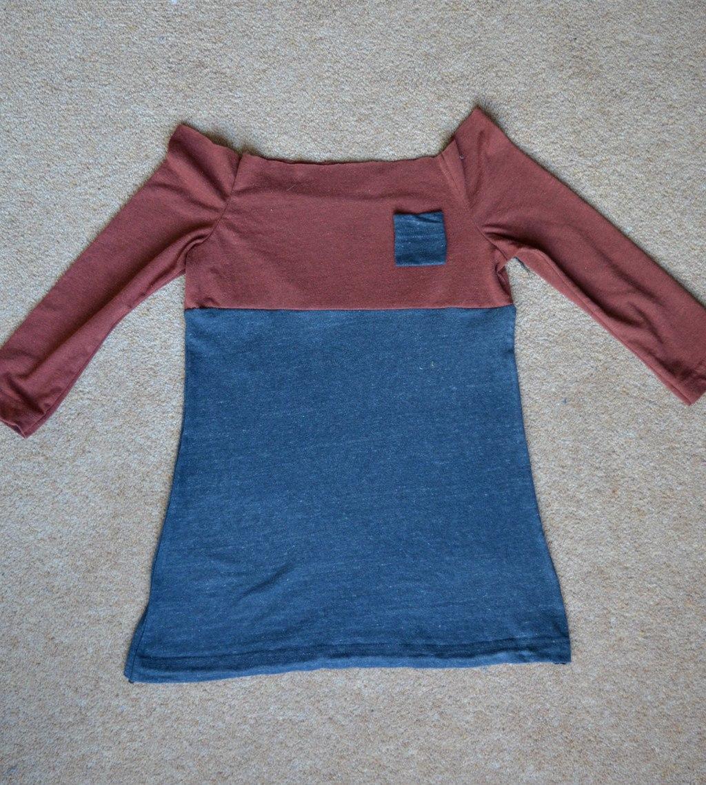 T shirt dress in progress