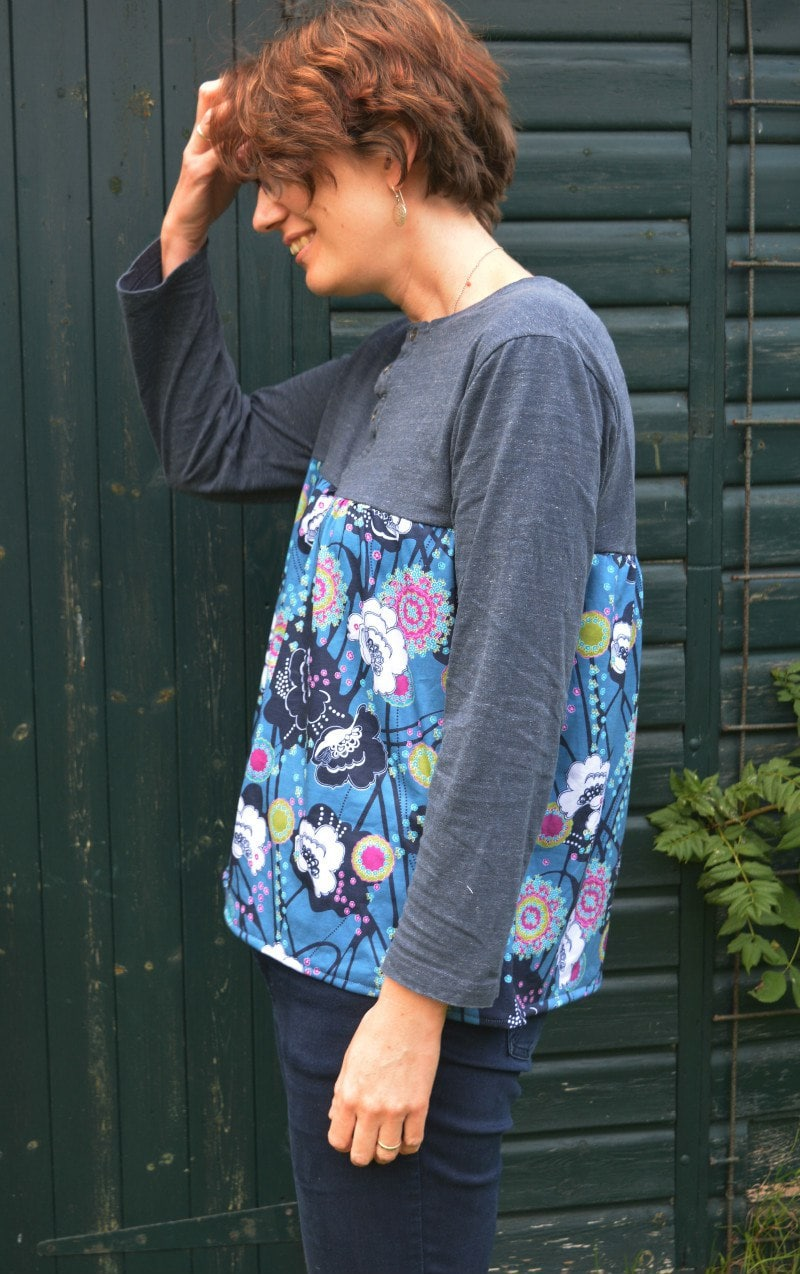 refashioned tshirt with knit fabric