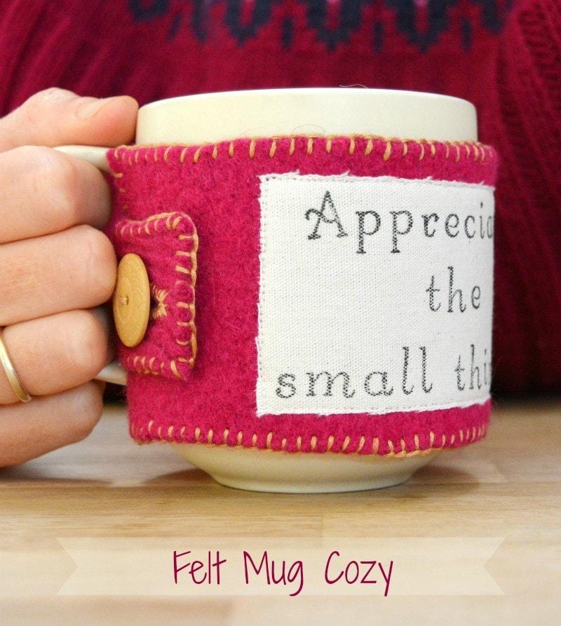 Upcycled Felt Mug Cozy