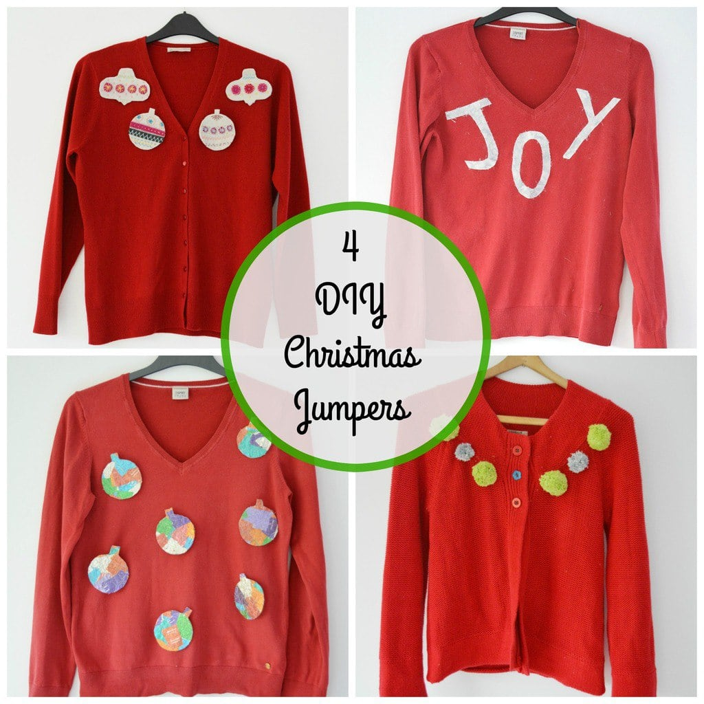 4 DIY Christmas Jumpers Ideas