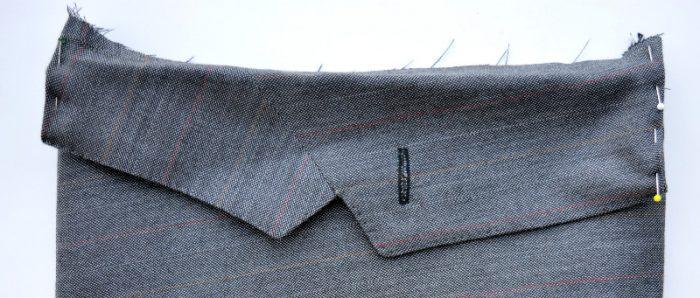 Turn collar edges in