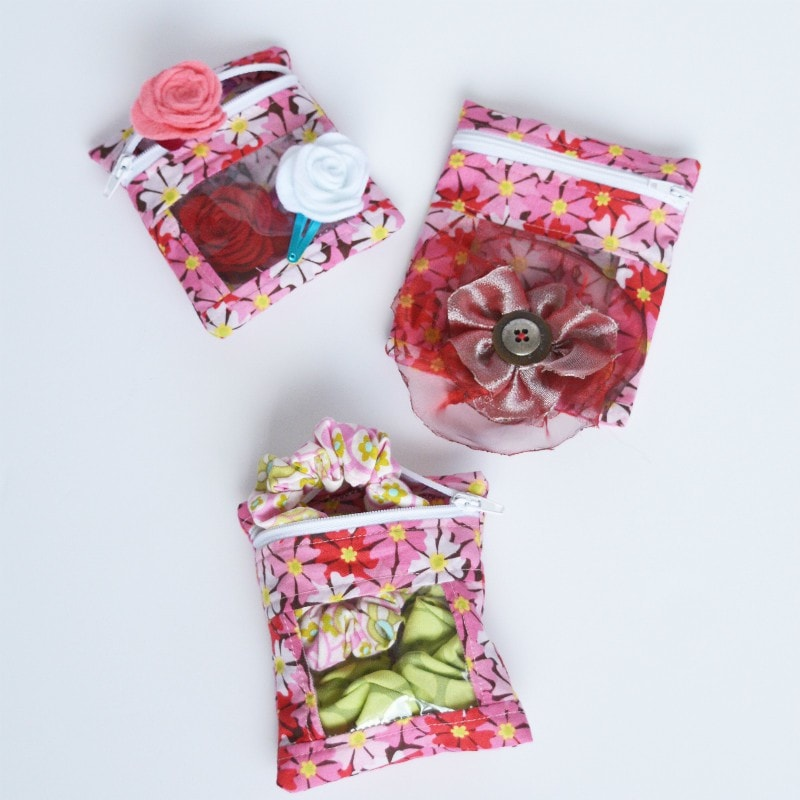 Super cute gft bags with hair accessories, perfect as a gift for teens