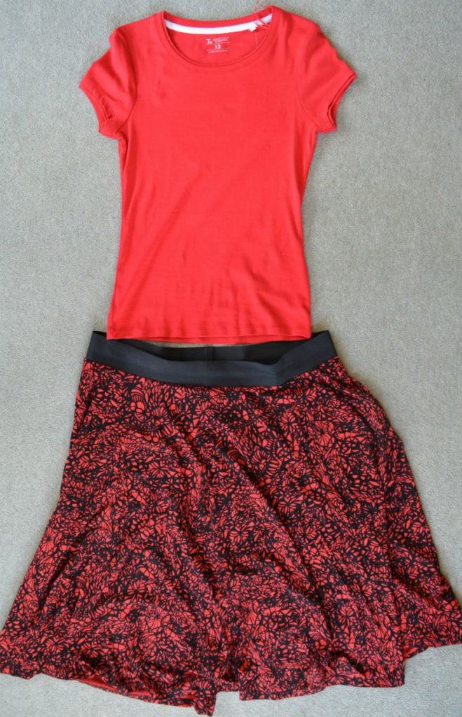 Skirt refashioned into a dress