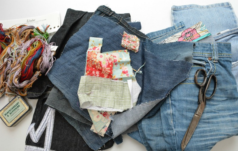 Sashiko Denim Bag supplies