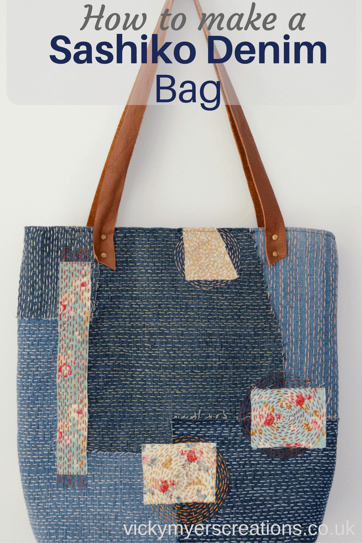 How to make a Sashiko Denim Tote Bag