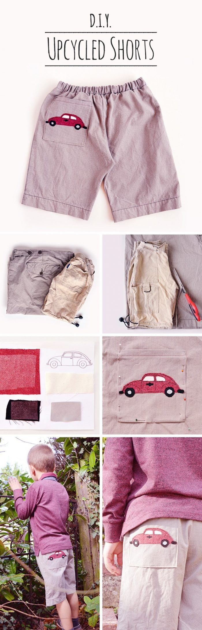 Sew your own beetle shorts, create your own shorts pattern (sponsored by Volkswagen)