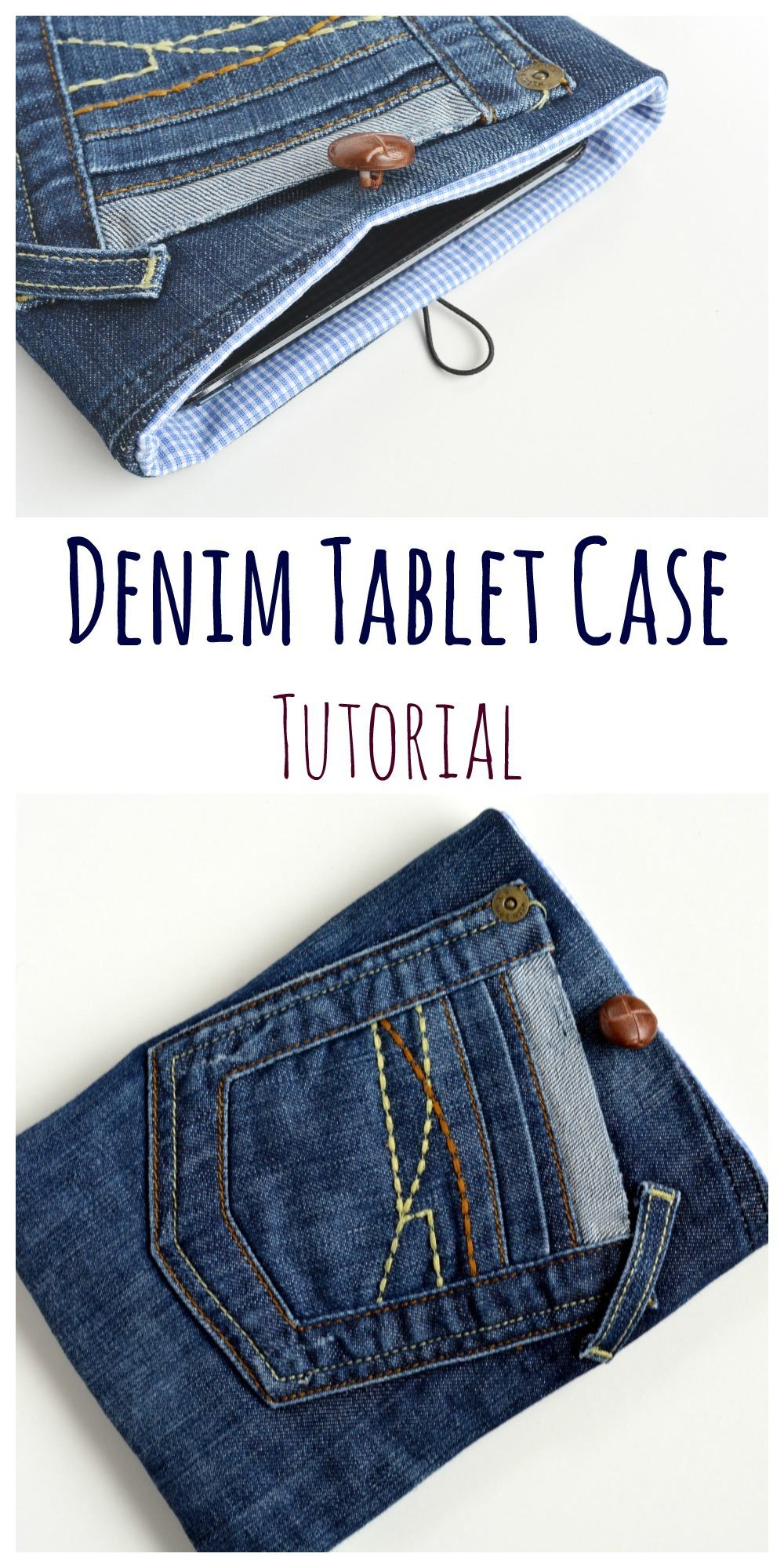 Upcycled Denim Tablet Case – Quick DIY Gift
