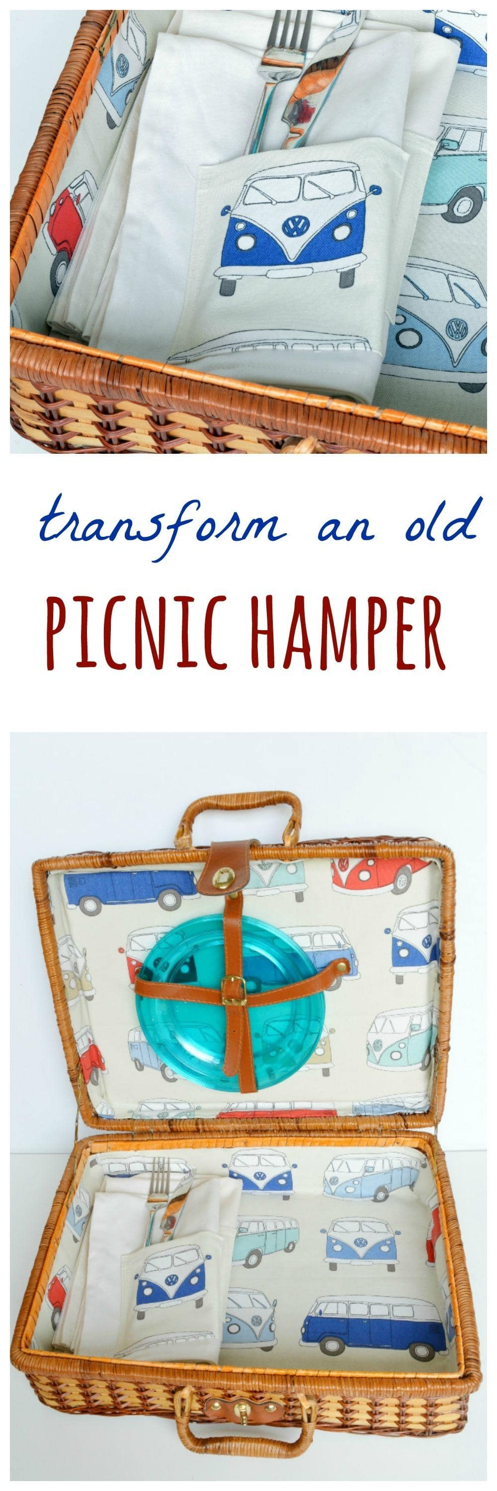 How to line a picnic hamper (post sponsored by Volkswagen)