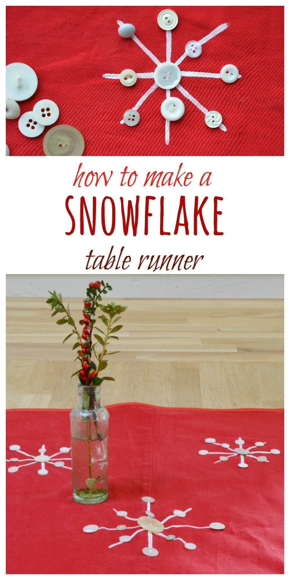 Use your fabric stash to create a Christmas table runner