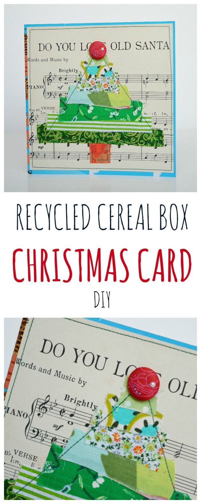 Turn cereal boxes into Christmas cards