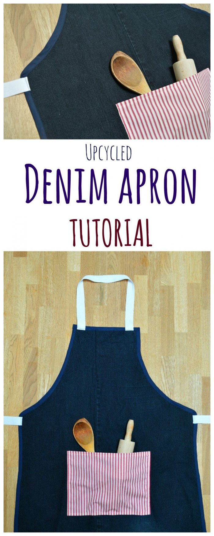 Upcycled Denim Apron – DIY Gift