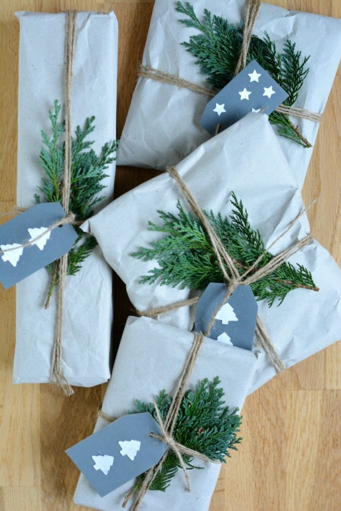 DIY Cereal Packet Gift Tags, chalk paint gift tags