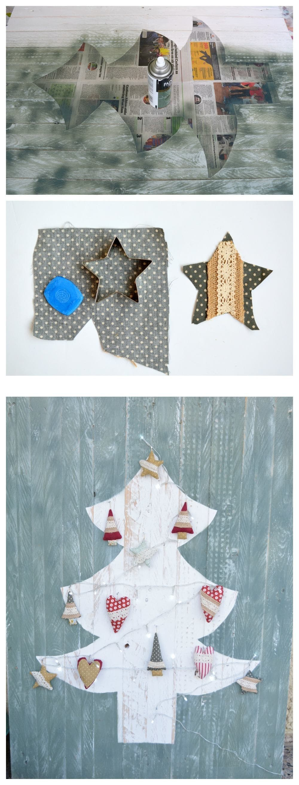 Handsewn Christmas decorations
