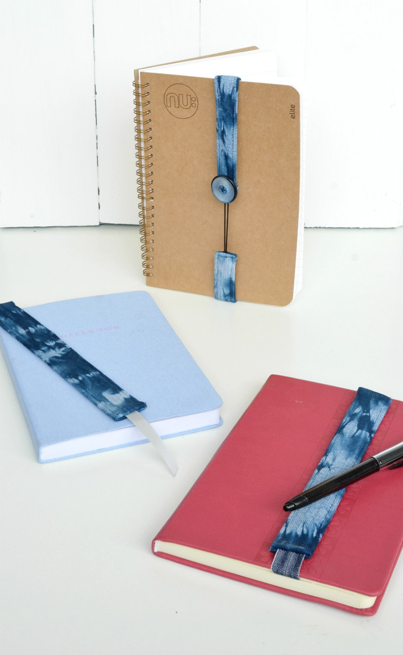 Create your own shibori book marks
