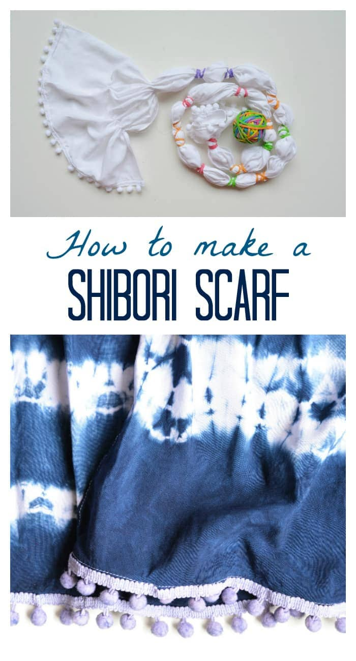 Learn how to make a shibori scarf, DIY, step by step tutorial