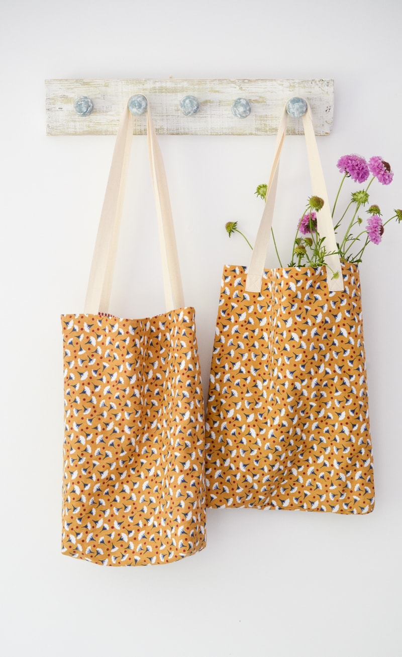 T Towel Tote Bag. Quick and easy gift to sew, 10 minute tote bag
