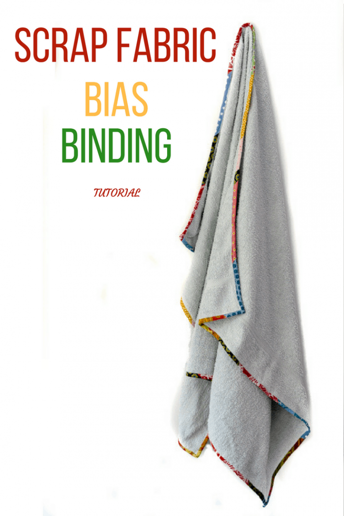 Are your towels looking a little tired, frayed around the edges? Learn how to update them with scrap fabric bias binding. #scrapfabricbiasbinding