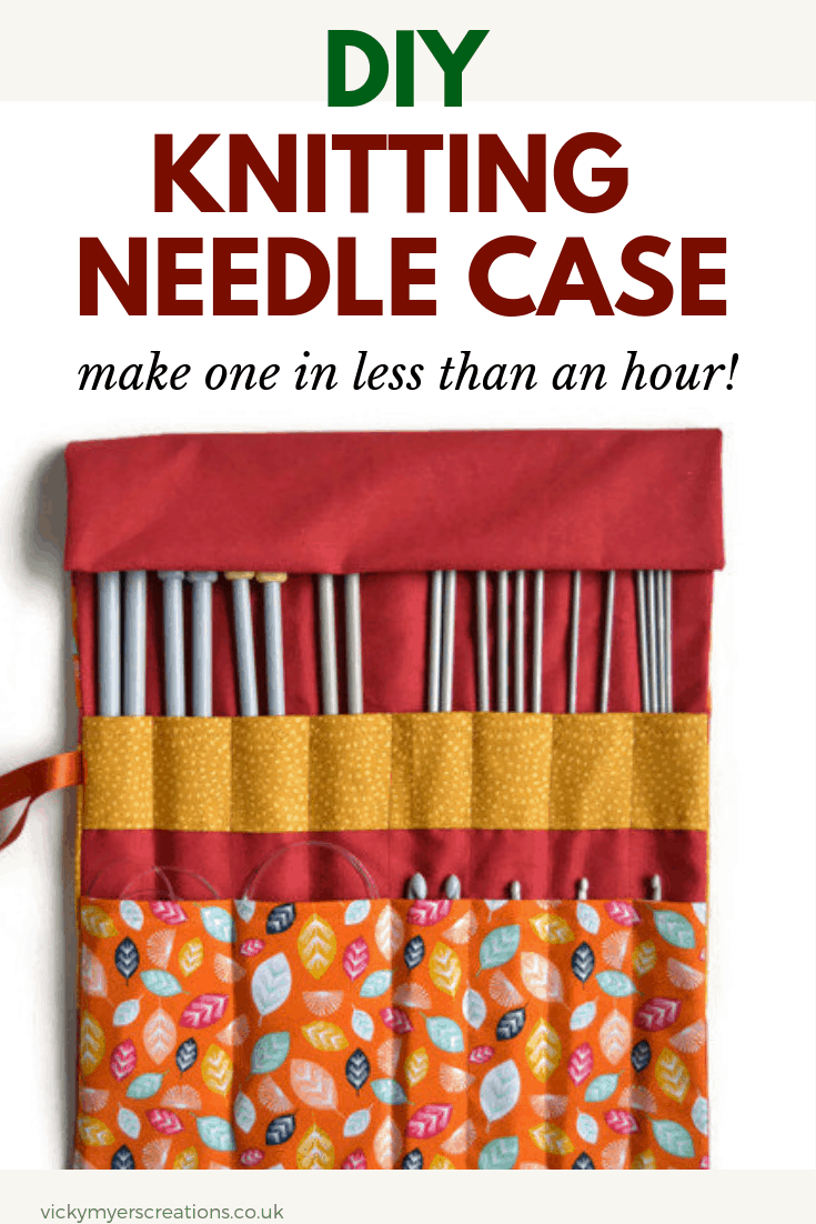 Wondering how to store our knitting needles? learn how to make a knitting needle case following step by step sewing tutorial. DIY knitting needle cases make perfect storage and organizers #knittingneedlecasepattern #sewing