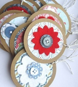 recycled brown card gift tags