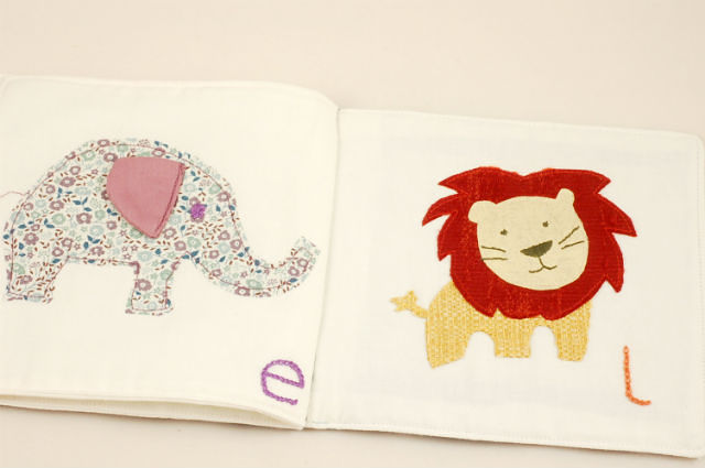 Fabric Baby Book Tutorial 1